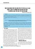 Thực trạng học tập môn lý luận và phương pháp giáo dục thể chất của sinh viên Trường Đại học Thể dục thể thao Bắc Ninh
