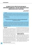 Lựa chọn bài tập phát triển thể lực của nam sinh viên chuyên ngành Taekwondo học kỳ 1 năm thứ 2 Ngành Giáo dục thể chất, Trường Đại học Thể dục thể thao Bắc Ninh