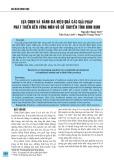 Lựa chọn và đánh giá hiệu quả các giải pháp phát triển bền vững môn Võ cổ truyền tỉnh Bình Định