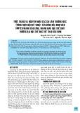 Thực trạng và nguyên nhân các sai lầm thường mắc trong thực hiện kỹ thuật tấn công của sinh viên chuyên ngành Cầu lông, ngành Giáo dục thể chất trường Đại học Thể dục thể thao Bắc Ninh