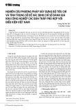 Nghiên cứu phương pháp xây dựng bộ tiêu chí và tính trọng số để xác định chỉ số đánh giá khu công nghiệp các bon thấp phù hợp với điều kiện Việt Nam