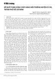 Đề xuất phân vùng chức năng môi trường huyện Củ Chi, thành phố Hồ Chí Minh