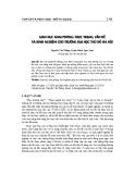 Giáo dục khai phóng: Thực trạng, vấn đề và kinh nghiệm cho trường Đại học Thủ đô Hà Nội