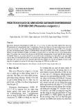 Phân tích in silico các gene mã hóa Glutamate dehydrogenase ở cây đậu cove (Phaseolus vulgaris L.)