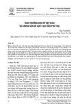 Tăng trưởng kinh tế Việt Nam và những vấn đề gợi ý cho tỉnh Phú Thọ