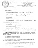 Đề thi thử vào lớp 10 THPT môn Toán năm học 2020-2021 – Phòng Giáo dục và Đào tạp Lộc Bình (Đề chính thức)