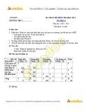 Đề kiểm tra học kì 1 môn Tin học lớp 6 năm học 2020-2021