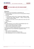 Bài giảng Quản trị chiến lược - Bài 4: Các loại chiến lược của doanh nghiệp