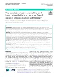 The association between smoking and knee osteoarthritis in a cohort of Danish patients undergoing knee arthroscopy