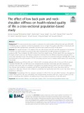 The effect of low back pain and neckshoulder stiffness on health-related quality of life: A cross-sectional population-based study