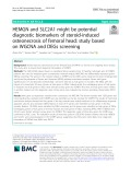 HEMGN and SLC2A1 might be potential diagnostic biomarkers of steroid-induced osteonecrosis of femoral head: Study based on WGCNA and DEGs screening