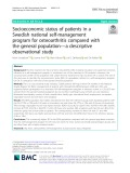 Socioeconomic status of patients in a Swedish national self-management program for osteoarthritis compared with the general population - a descriptive observational study