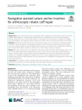 Navigation-assisted suture anchor insertion for arthroscopic rotator cuff repair