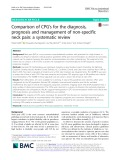 Comparison of CPG's for the diagnosis, prognosis and management of non-specific neck pain: A systematic review