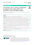 Conservative versus surgical management for patients with rotator cuff tears: A systematic review and META-analysis