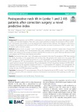 Postoperative neck tilt in Lenke 1 and 2 AIS patients after correction surgery: A novel predictive index