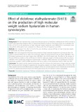 Effect of diclofenac etalhyaluronate (SI-613) on the production of high molecular weight sodium hyaluronate in human synoviocytes