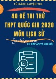 40 đề thi thử THPT Quốc gia 2020 môn Lịch sử (Có đáp án)