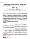 Đánh giá khả năng phân loại của vùng gen ITS-rDNA đối với loài Hoàng liên ô rô lá dày (Mahonia bealei (Fortune) Pynaert) của Việt Nam