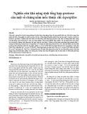 Nghiên cứu khả năng sinh tổng hợp protease của một số chủng nấm mốc thuộc chi Aspergillus