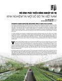 Mô hình phát triển nông nghiệp đô thị - Kinh nghiệm tại một số đô thị Việt Nam
