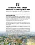 Quy hoạch và quản lý xây dựng vùng ven đô thị thành phố Hồ Chí Minh – Bài học kinh nghiệm phát triển từ Singapore