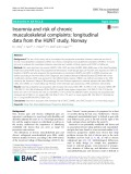 Insomnia and risk of chronic musculoskeletal complaints: Longitudinal data from the HUNT study, Norway