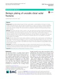 Biologic plating of unstable distal radial fractures
