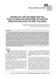 Nghiên cứu chế tạo màng hấp phụ phục vụ đánh giá phơi nhiễm hơi nicotin bằng phương pháp lấy mẫu thụ động