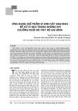 Ứng dụng chế phẩm vi sinh vật Sagi Bio1 để xử lý mùi trong không khí chuồng nuôi bò thịt hộ gia đình