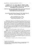 Nghiên cứu tác dụng kháng viêm và độc tính cấp của cao chiết cồn lá cây thóc lép (Desmodium gangeticum)