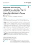 Effectiveness of a theory-based multicomponent intervention (Movement Coaching) on the promotion of total and domain-specific physical activity: A randomised controlled trial in low back pain patients
