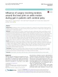 Influence of surgery involving tendons around the knee joint on ankle motion during gait in patients with cerebral palsy