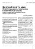 Tổng hợp vật liệu hỗn hợp TiO2 - cao lanh và hoạt tính quang xúc tác trong phản ứng phân hủy norfloxacin của chúng