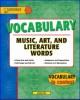 Vocabulary English of vocabulary music