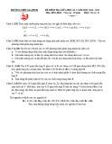 Đề thi giữa học kì 2 môn Hóa học 10 năm 2018-2019 - Trường THPT Gia Định (Khối cơ bản)