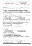 Đề thi thử tốt nghiệp THPT năm 2021 môn Hóa học có đáp án - Trường THPT Lý Thái Tổ (Lần 1)