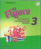 Authentic examination papers, A2 flyers 3 Student's book