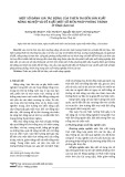 Một số đánh giá tác động của thiên tai đến sản xuất nông nghiệp và đề xuất một số biện pháp phòng tránh ở tỉnh Lào Cai