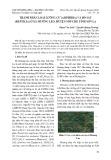 Thành phần loài lưỡng cư (Amphibia) và bò sát (Reptilia) ở xã Mường Lèo, huyện Sốp Cộp, tỉnh Sơn La