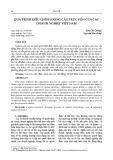 Quá trình điều chỉnh động cấu trúc vốn của các doanh nghiệp Việt Nam