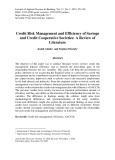 Credit risk management and efficiency of savings and credit cooperative societies: A review of literature