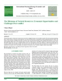The dilemma of natural resources: Economic opportunities and challenges post-conflict
