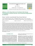 Influence of the renewable and non-renewable energy consumptions and real-income on environmental degradation in Indonesia