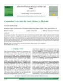 Commodity prices and the stock market in Thailand