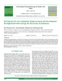 Driving factors of community empowerment and development through renewable energy for electricity in Indonesia