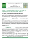 Analysis of the relationship between renewable energy and economic growth in selected developing countries