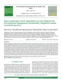 Rural agribusiness-based agropolitan area development and environmental management sustainability: Regional economic growth perspectives