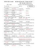 Đề kiểm tra 1 tiết học kì 2 môn Hóa học lớp 12 năm 2019-2020 - THPT An Minh (có đáp án)