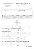 Đề kiểm tra 1 tiết môn Toán lớp 12 năm 2019-2020 - THPT Nguyễn Trung Thiên, Hà Tĩnh (có đáp án)